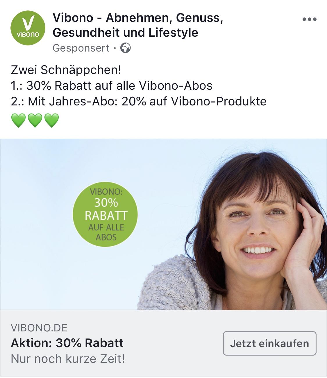Vibono - 30% aufs Abo Gutschein