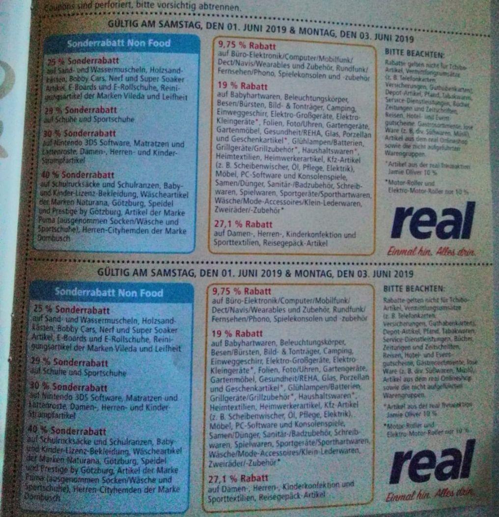 Real Family & Friends Aktion am 1.6 bis 3.6 | 40% auf Puma, 29% auf Schuhe, 30% auf Nintendo 3Ds Spiele uvm.