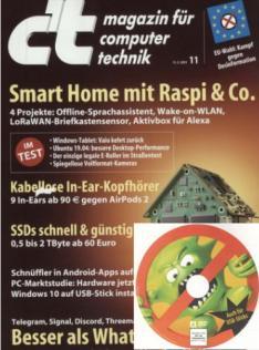 [Heise] c't (6 Ausgaben inkl. Desinfect Software) mit 15,00 € Amazon-Gutschein + c't Sonderheft PC Selbstbau (i.W.v. 12,90 €)