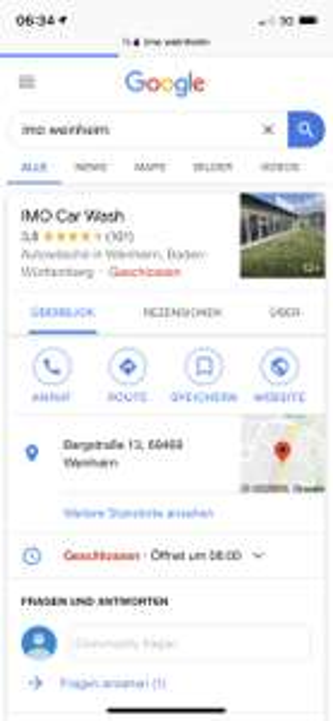 [LOKAL] Weinheim IMO Waschanlage