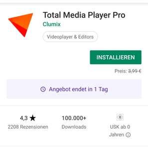 (Google Playstore) Total Media Player Pro