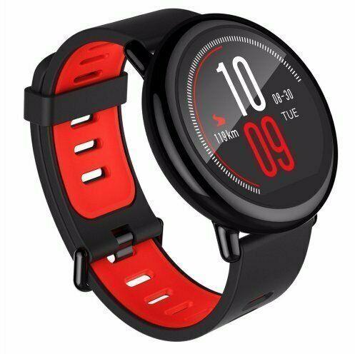 Huami Amazfit Pace Smartwatch in schwarz und rot [eBay]
