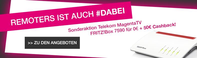 Telekom Magenta Zuhause M + Magenta TV + FRITZ!Box 7590 + 390€ Cashback + 10€ Cashback für VSK