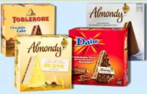 Almondy Toblerone, Daim, Mousse bei Frostkauf (regional) ++ Almondy Daim & Mandel (bundesweit) für 3,59€ bei Kaufland