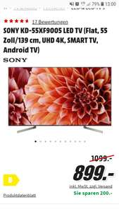 "Sony Bravia XF9005 55"" LED Ultra HD TV"