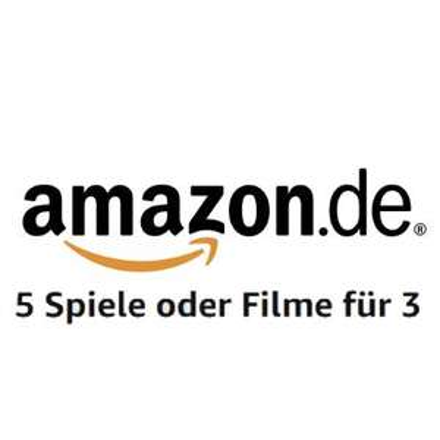 Amazon.de mit 5 für 3 Aktion auf verfügbare Spiele und Filme