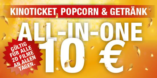 [LOKAL] Innenstadtkinos Stuttgart - Jeder 2D-Film mit Popcorn und Getränk für 10€!