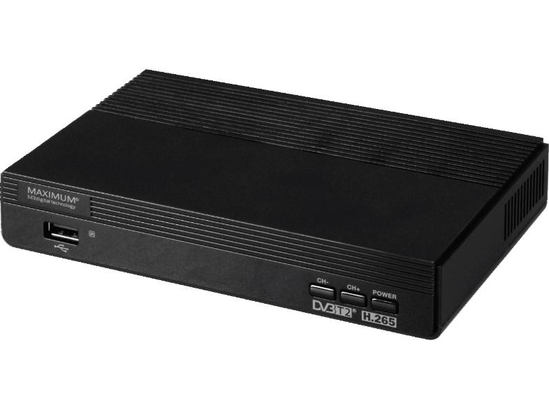 Maximum DVB-T2 Receiver (HDMI, Scart, Front-USB für Medienwiedergabe, inkl. Fernbedienung)