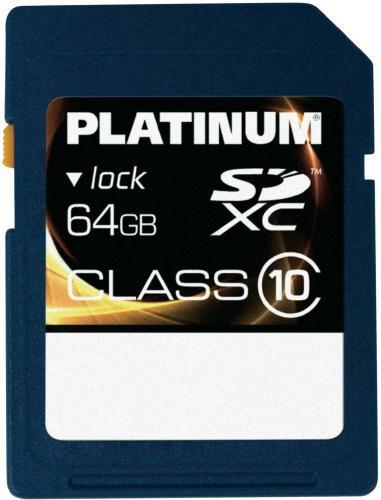PLATINUM SDXC KARTE 64GB CLASS10 - 28,36€ inkl. VSK