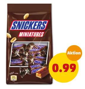 SNICKERS, MARS, TWIX oder BOUNTY-Miniatures je 150g-Packung für 99 cent *17.05.-18.05.* [PENNY]