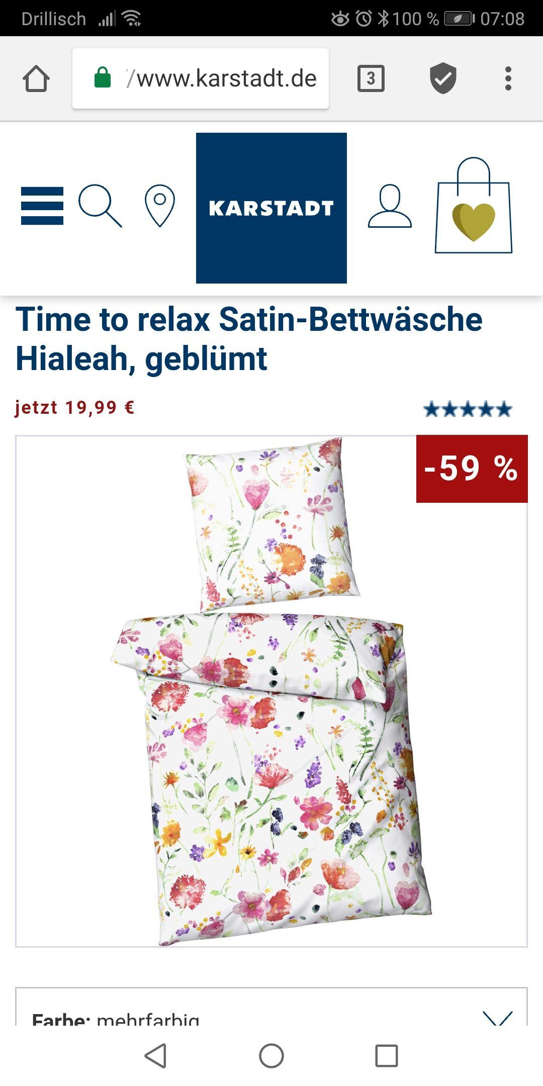 Karstadt Marken-Bettwäsche stark reduziert