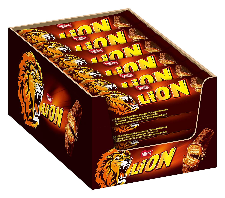 [prime] Nestlé LION Schokoriegel mit Karamell - 24er Pack (24 x 42 g)