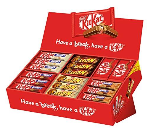 [Amazon Prime] Nestle Party Box KitKat, Lion, 6 Sorten, 64 Schokoriegel