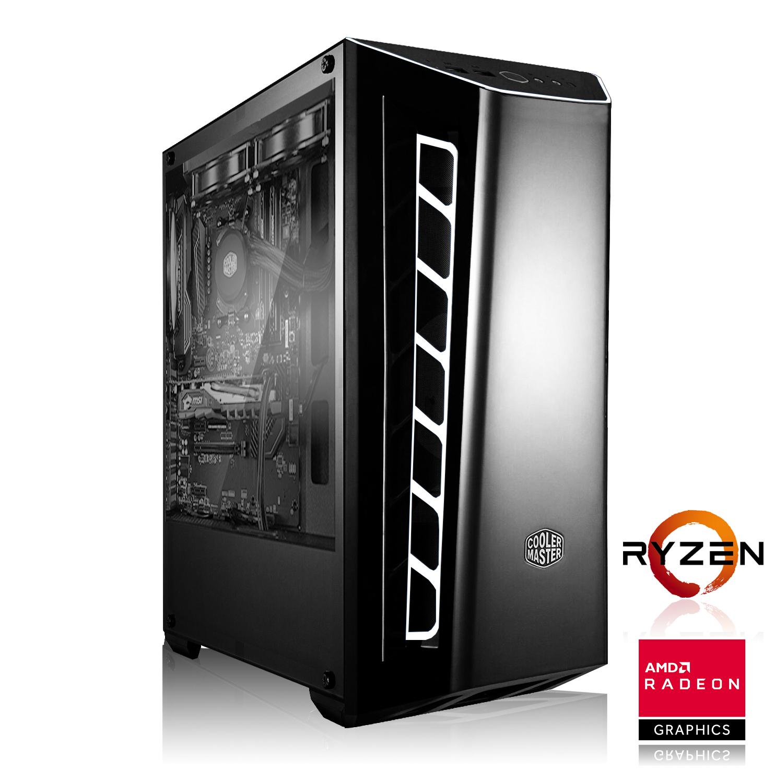 Gaming PC mit Ryzen 2600 6x3.40GHz, Asus Strix RX Vega 56, 16GB DDR4-3000, 240GB SSD für 679€