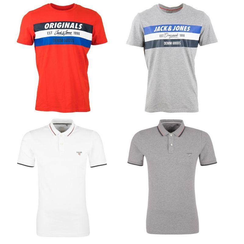 4 T-Shirts bzw. Poloshorts von S.Oliver und Jack & Jones für 40€