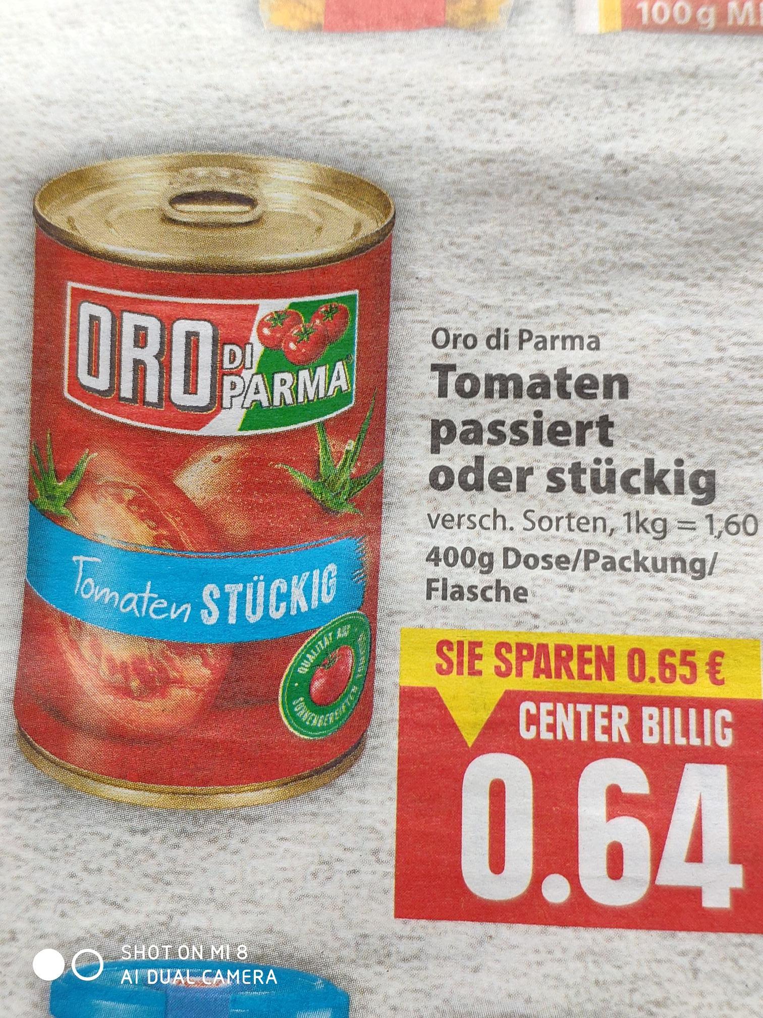 [E-Center Herford evtl. Bundesweit] Oro di Parma Tomaten 400g Dose