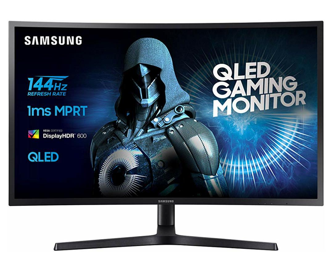 Samsung 27HG70 68,4 cm (26,9 Zoll) QLED Monitor, FreesSync, Pivot, HDMI, 1ms, schwarz