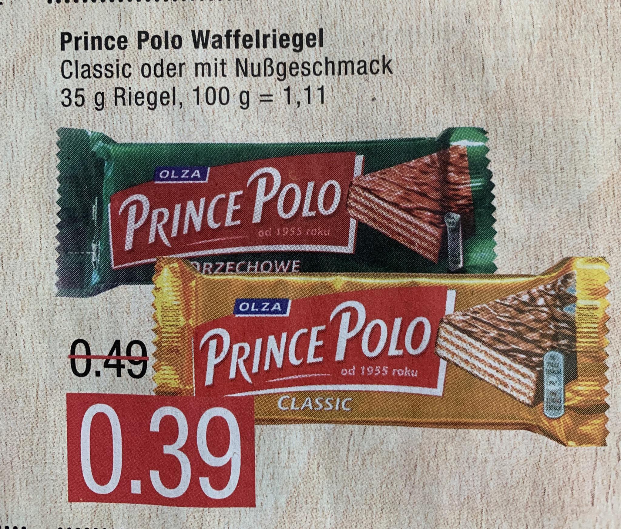 [Marktkauf Nord] Polnische Prince Polo Schokoladenwaffel für 0,39€ ab Montag 20.05.2019 (Classic oder Haselnuss)