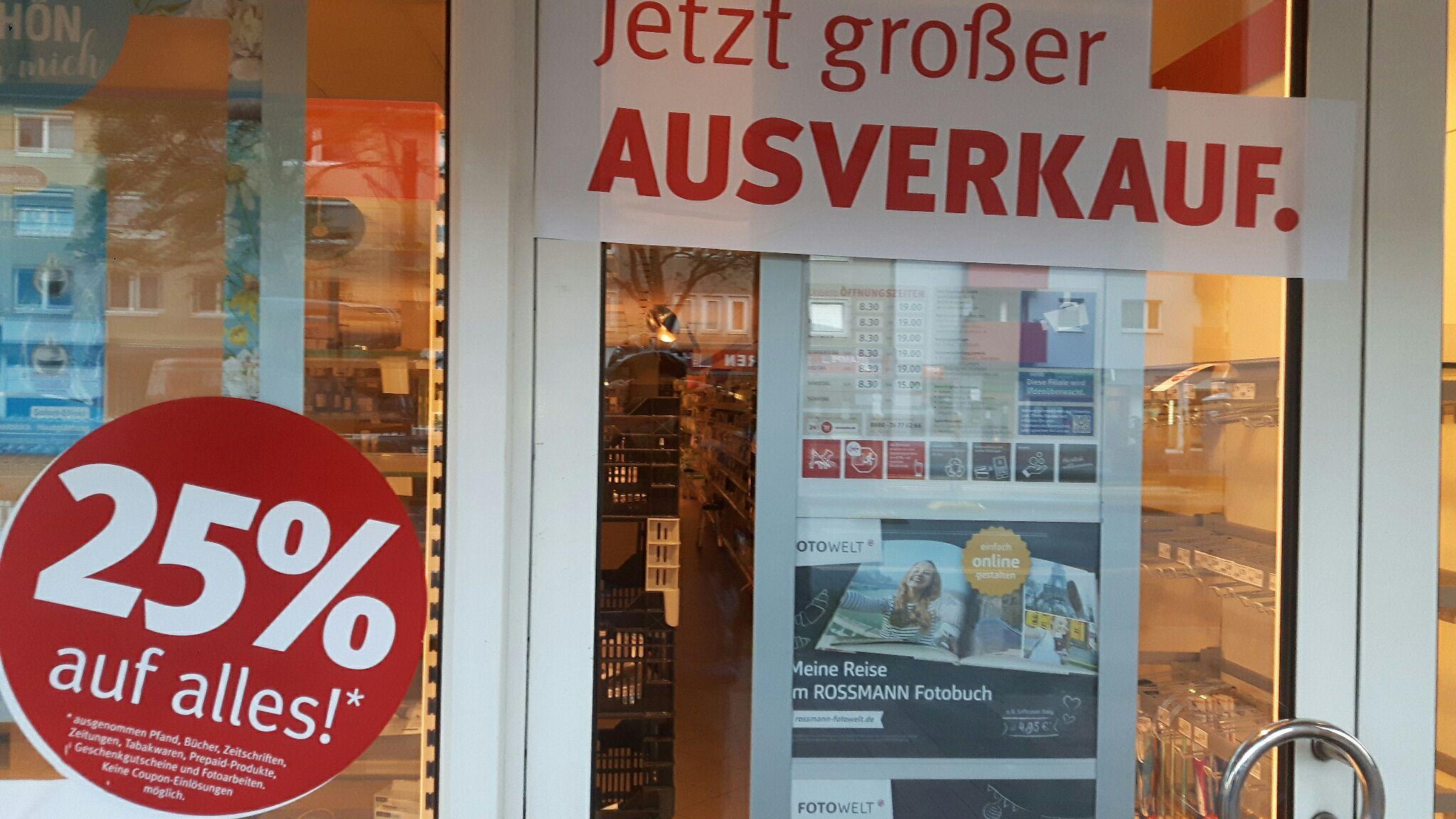 [Lokal Hannover, Vahrenwald] Rossmann Ausverkauf 25%