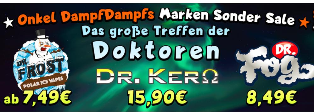 Doktorentreffen :) Dr. Kero, Dr. Frost & Dr. Fog reduziert + 187 Straßenbande Liquids Vorbesteller Rabatt! - Shake'n'Vape / Dampfen / Aromen