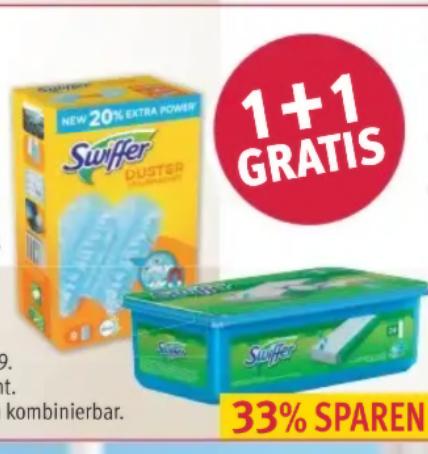 (Rossmann) Swiffer 2 für 1 Aktion für Staubmagnet und Tücher ab 20.5.19