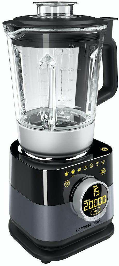 CARRERA Standmixer No 655, Soup Smoothie Maker, BPA frei, Edelstahl Messer, 1,75 l, 1000 W