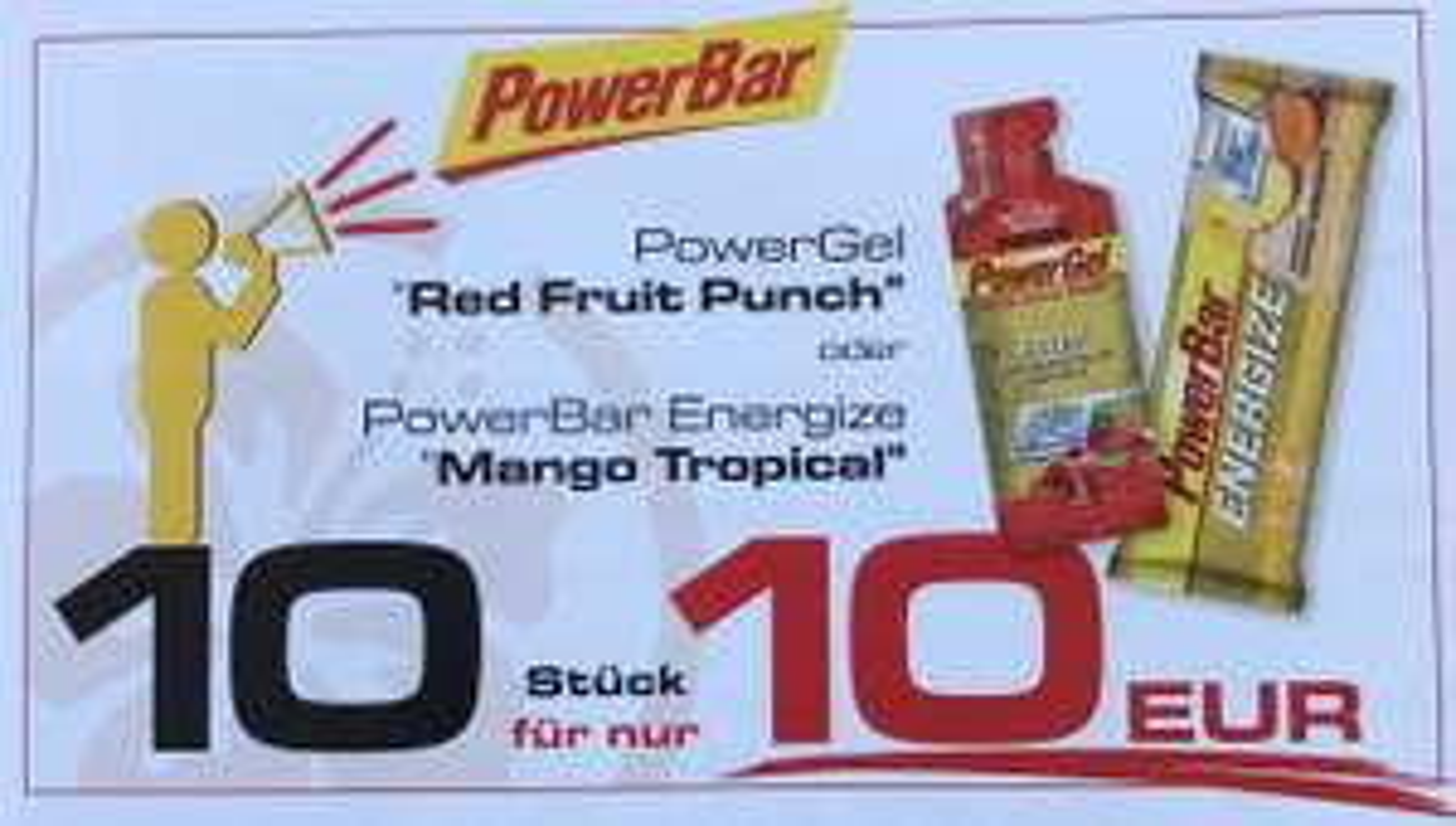 [lokal München] PowerGel Red Fruit Punch oder PowerBar Energize Mango Tropical
