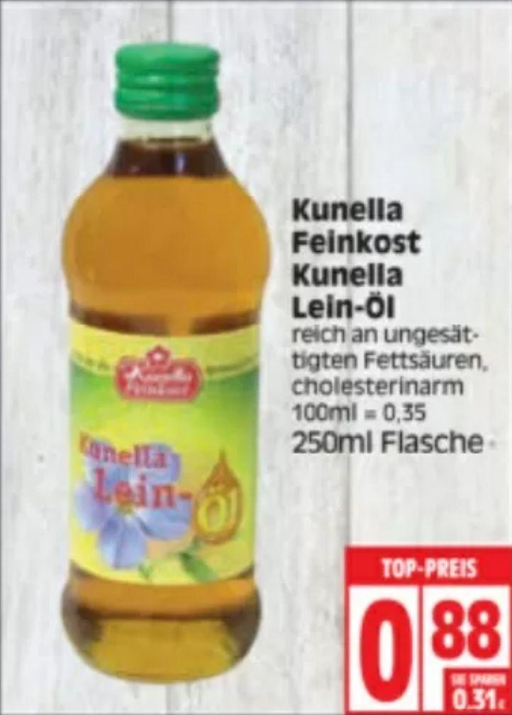 Fitness-Supermarkt-Sammeldeal (KW21): z.B. 250ml Kunella Leinöl für 0,88€ bei Edeka oder 500g-Netz Avocados für 1,39€ bei Aldi Nord