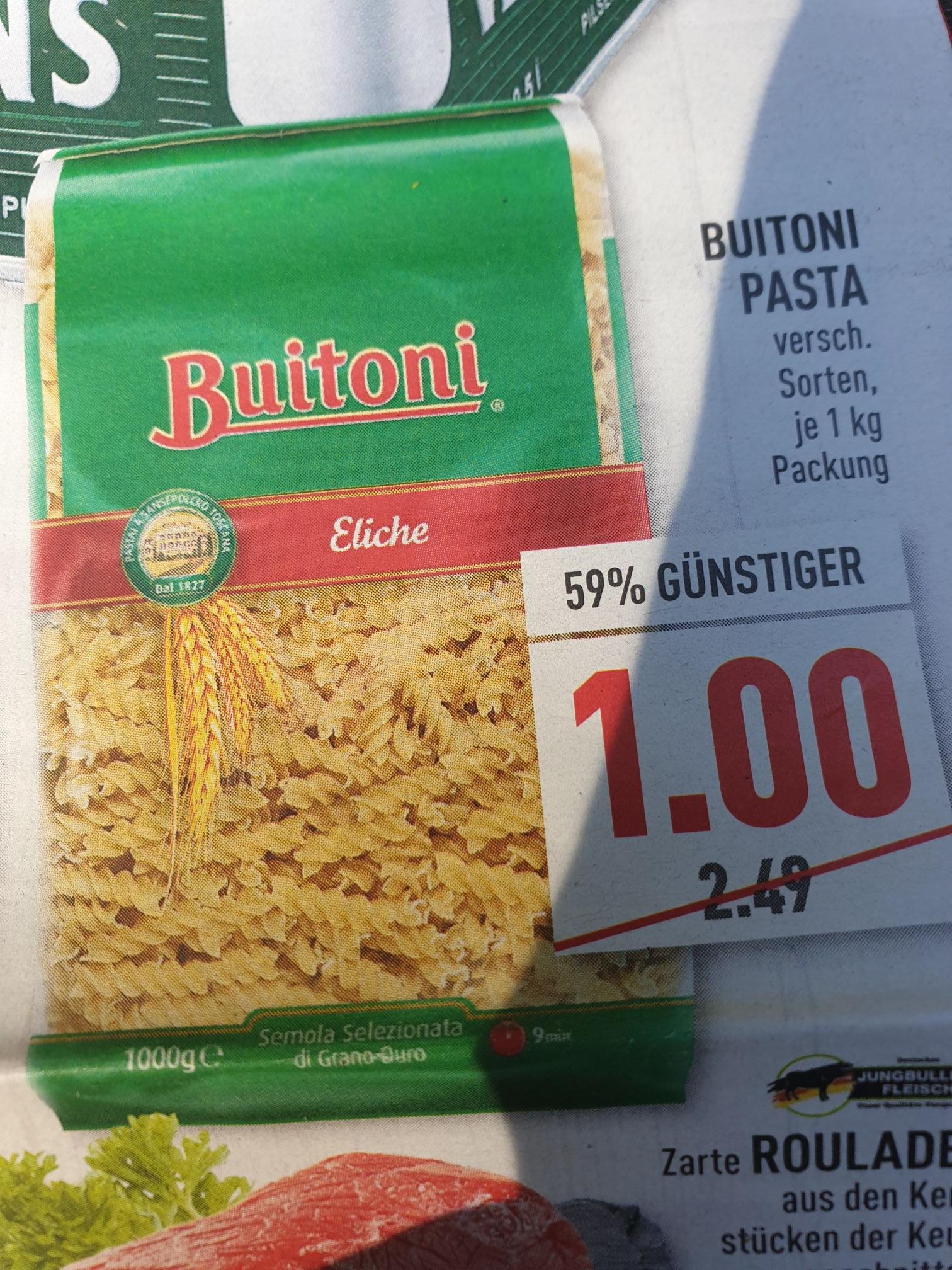 (Lokal Marktkauf NRW evtl. bundesweit) Buitoni Pasta 1kg nur 1,00€