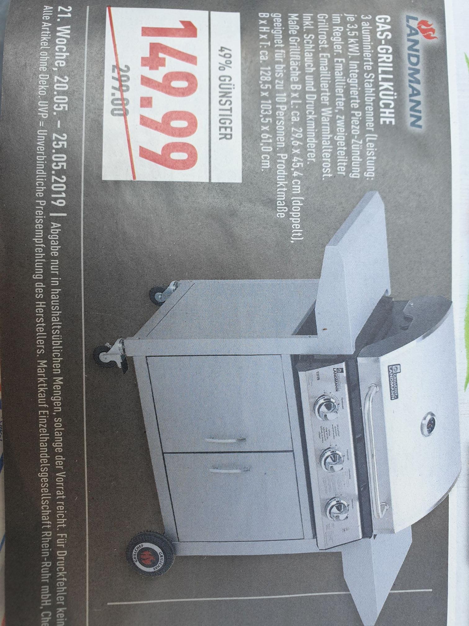 (Lokal Marktkauf NRW evtl. bundesweit) Landmann Gas-Grillküche 12739 für 149,99€