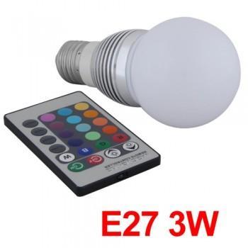 Kabellos E27 LED Lampe Leuchte Licht 16 Farb.+IR Remote nur für 10,61 Euro inkl. Verand