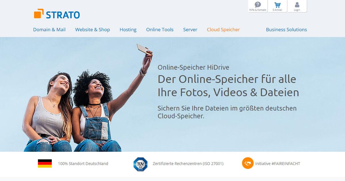 STRATO HiDrive 1 TB mit 11 Usern und End-zu-End-Verschlüsselung (Einrichtungsgebühr 10 EUR) (Aktion 1 EUR für die nächsten 6 Monate)