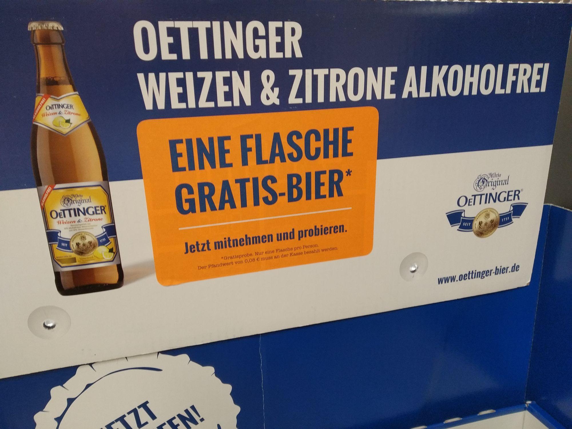 [Rewe][Lokal Kreuztal] Kostenfreies Oettinger Weizen & Zitrone (zzgl. 0,08€ Pfand)
