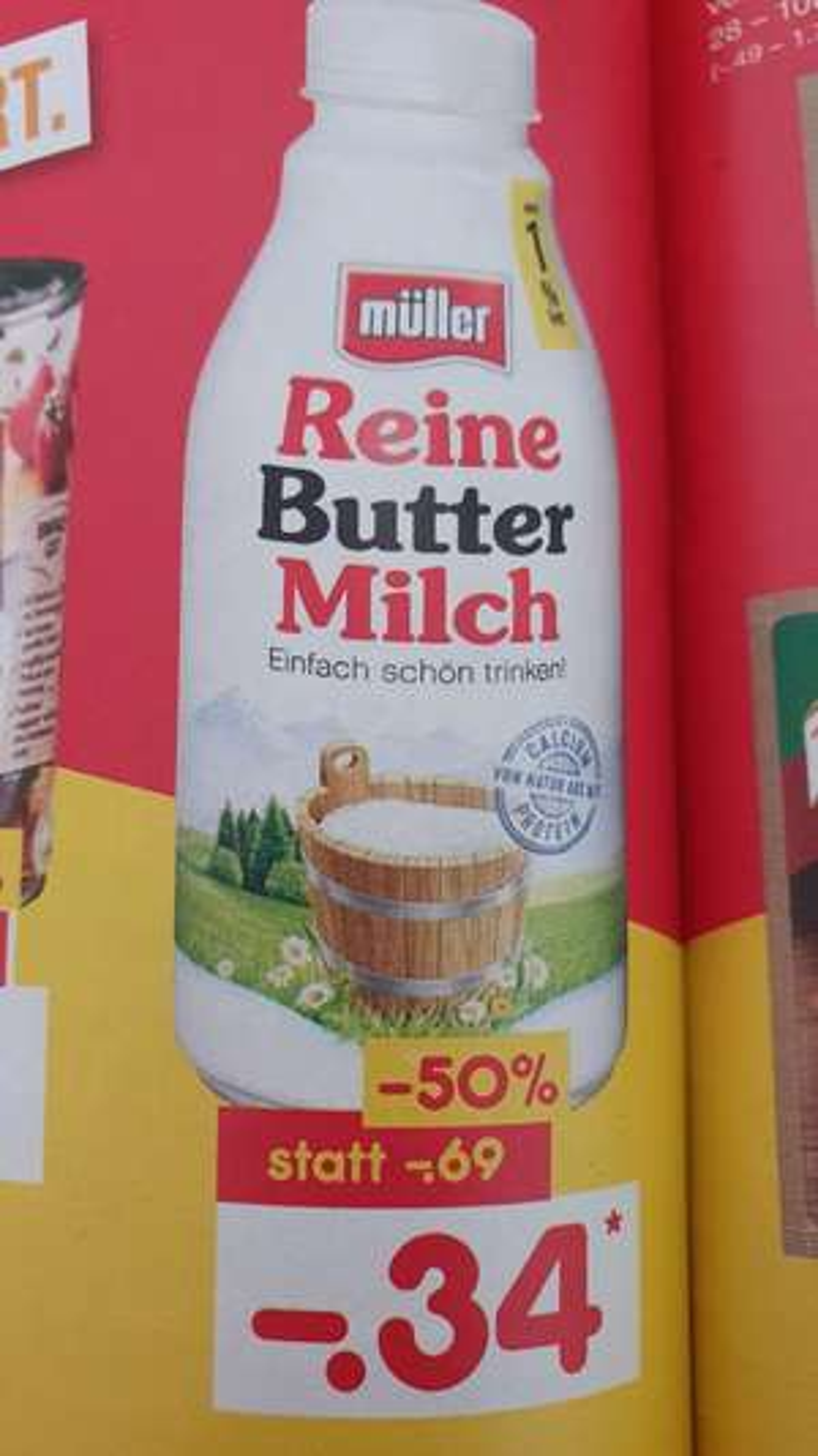 [NETTO MD/ EDEKA Center]  Müller Reine Butter Milch 500g