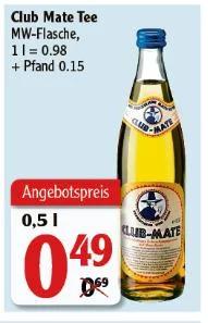 [Globus Rostock] Club Mate Original - 0,5l Flasche - Preis ohne Pfand