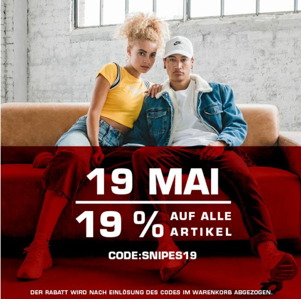 [Snipes] 19% Rabatt auf alles am 19.Mai