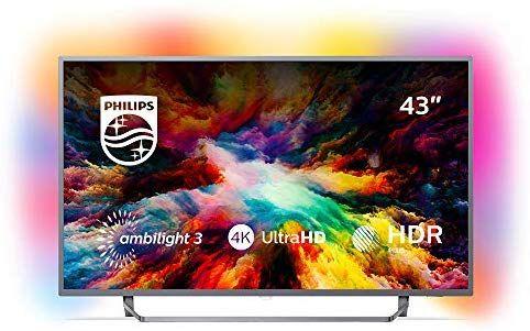 Philips 43PUS7303 43 Zoll TV (Ambilight, 4K Ultra HD, Triple Tuner, Smart Fernseher)