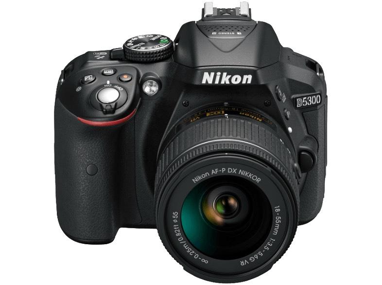 NIKON D5300 + 18-55 mm Objektiv (AF-P, VR) (Lokal !?)