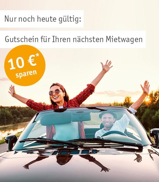 10€ Rabatt bei Billiger-Mietwagen