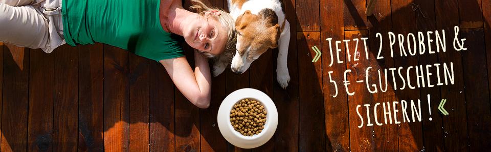 Bei Green Petfood stehen täglich 100 Futterproben für den Hund zur Verfügung.