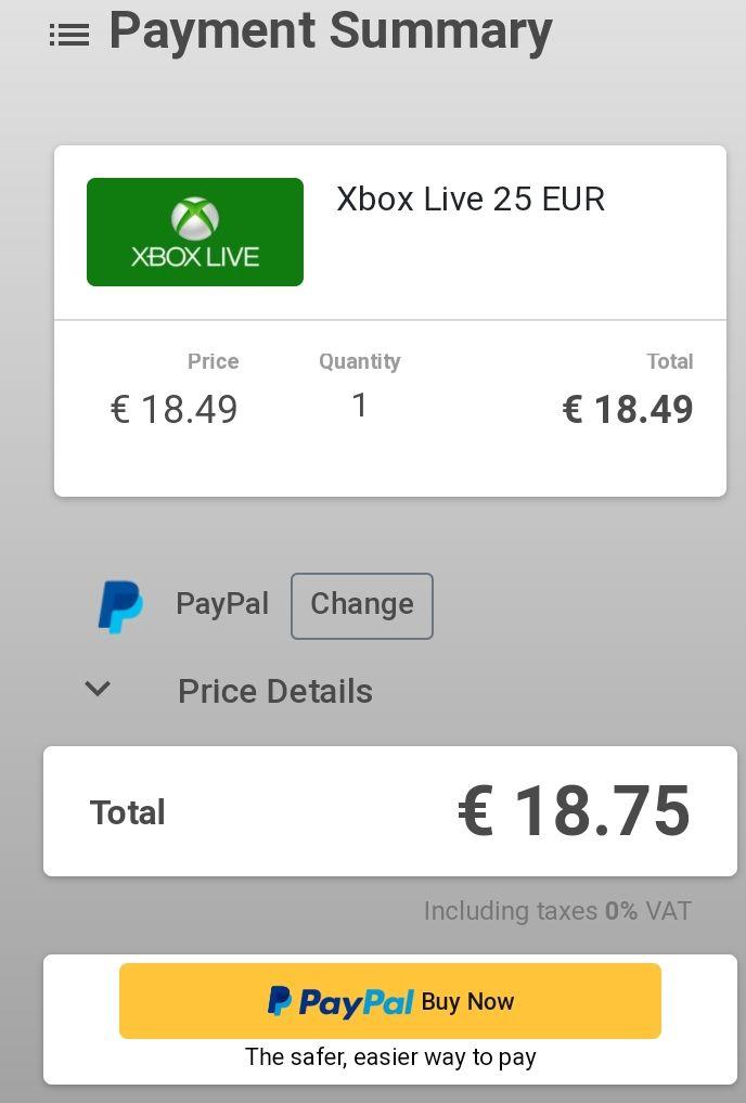 (GAMIVO) 25 Euro Xbox Guthaben für 18,49 Euro