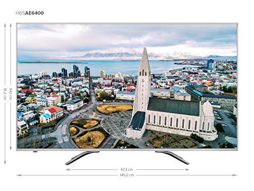 "Hisense H65AE6400, 4K/UHD-LED-Smart TV, 163 cm [65""] - Aluminium"
