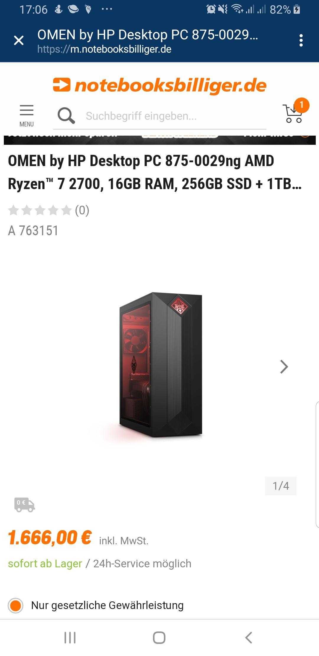 [Gaming Pc] Ryzen™ 7 2700, 16GB RAM, 256GB SSD + 1TB HDD, NVIDIA RTX 2070, Win10