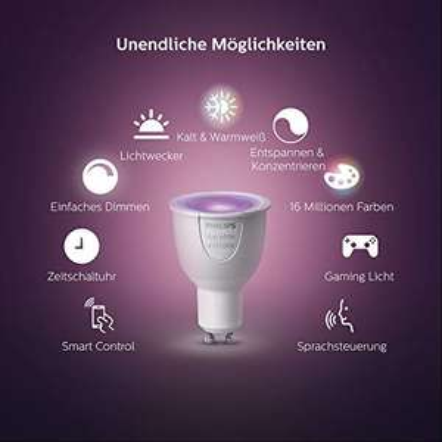 100% reserviert: Philips Hue Starterset GU10 3 Lampen + Brigde zum Bestpreis