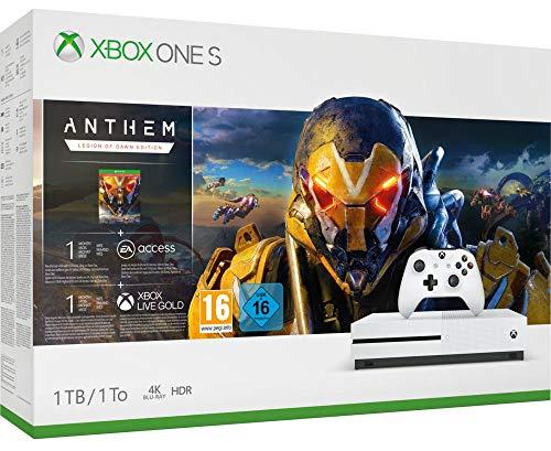 Microsoft Xbox One S 1TB + Anthem @Amazon.fr