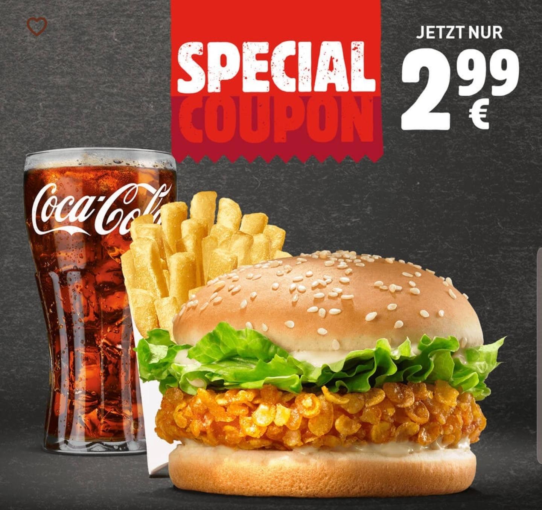 [Burger King] Crispy Chicken + kleine Pommes + kleines Getränk