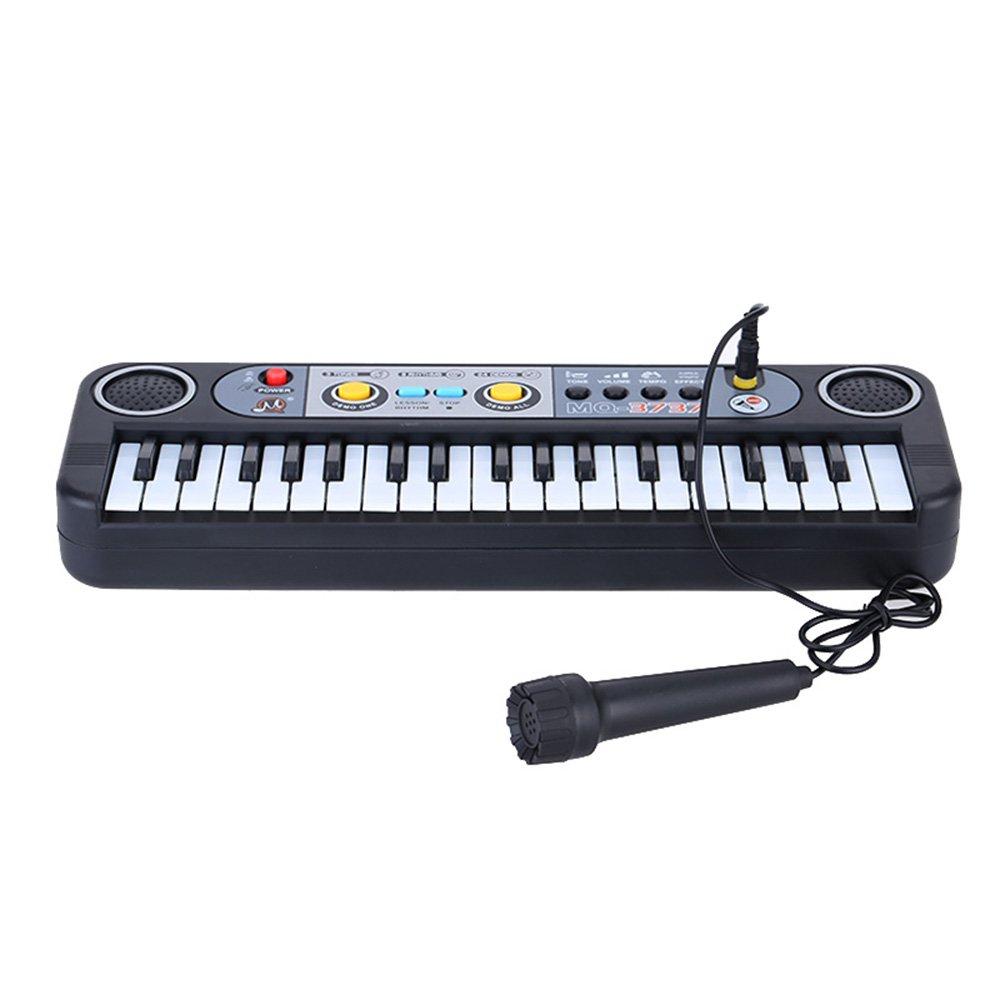 37 Tasten-Keyboard mit Mikrofon MQ-3737 (3 Töne, 2 Effekte, Tempo- und Lautstärkeregelung, 24 Demos, integrierte Lautsprecher)