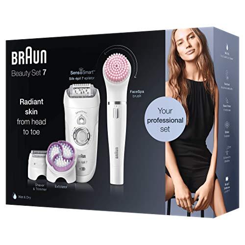 Braun Silk-épil Professional Beauty-Set 7-895 6-in-1 Kabellose Wet&Dry Haarentfernung