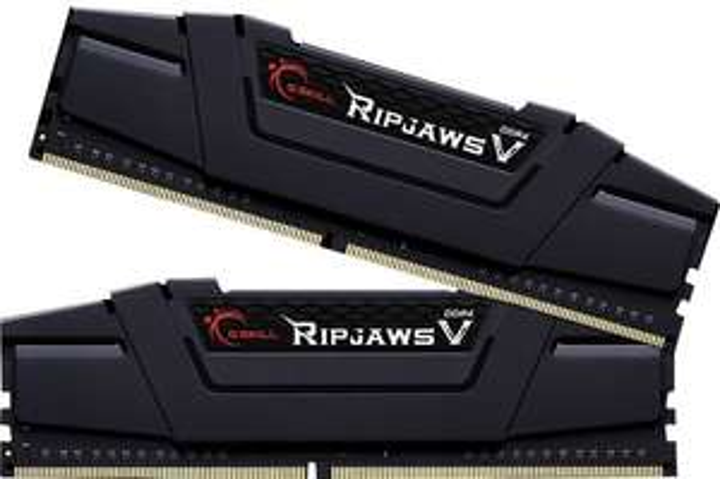 G.Skill RipJaws V schwarz DIMM Kit 16GB RAM, DDR4-3000, CL15-16-16-35 (F4-3000C15D-16GVKB)