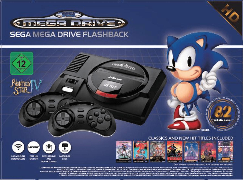 [Conrad ab 29.05.19] SEGA Megadrive Flashback HD Retro Konsole inkl. 2 Wireless Controller & 82x Spieleklassiker